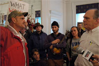 Mountain Justice activists share their grievances with West Virginia's Gov. Manchin